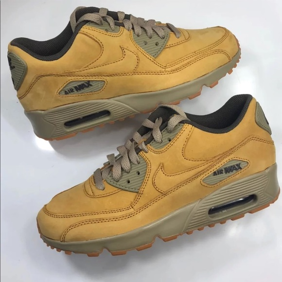NEW Kids Nike Air Max 90 Wheat Winter 5y=6.5Wmns